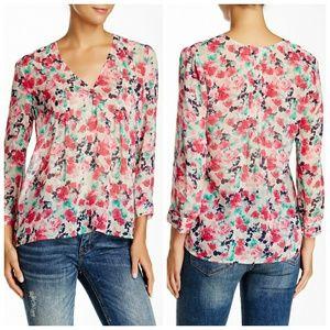 Joie floral Leala Silk Blouse